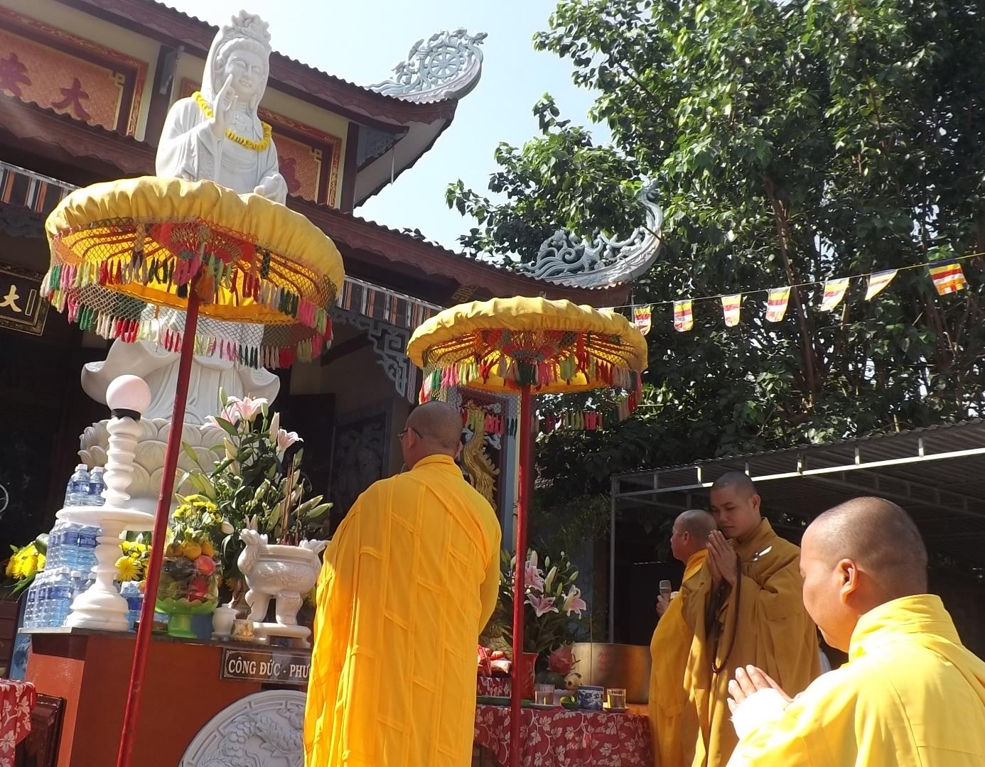 Phú Ninh: chùa Đại An tổ chức lễ an vị tôn tượng Quán Thế Âm