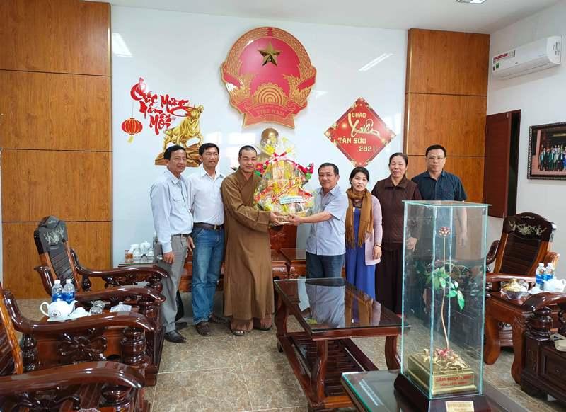 Bắc Trà My: Phật giáo huyện miền núi tổng kết Phật sự năm 2020 và thăm chúc tết lãnh đạo huyện