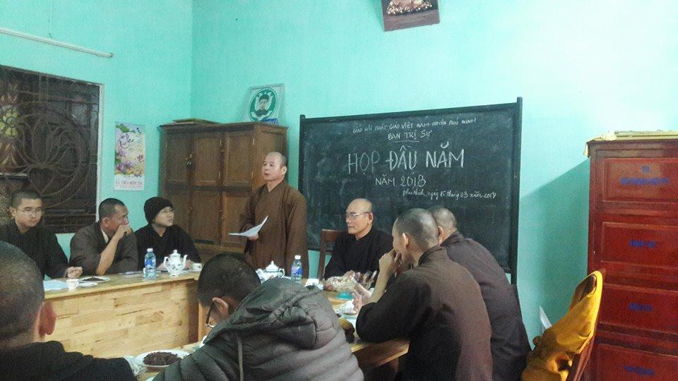 Phú Ninh: Ban Trị Sự Phật giáo huyện triển khai Phật sự 6 tháng đầu năm