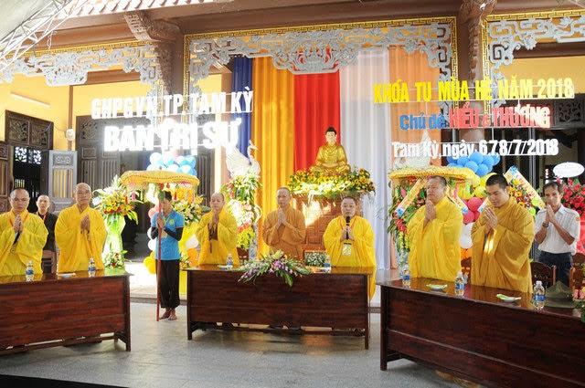 Tam Kỳ: Phật giáo thành phố lần đầu mở khóa tu mùa hè dành cho giới trẻ