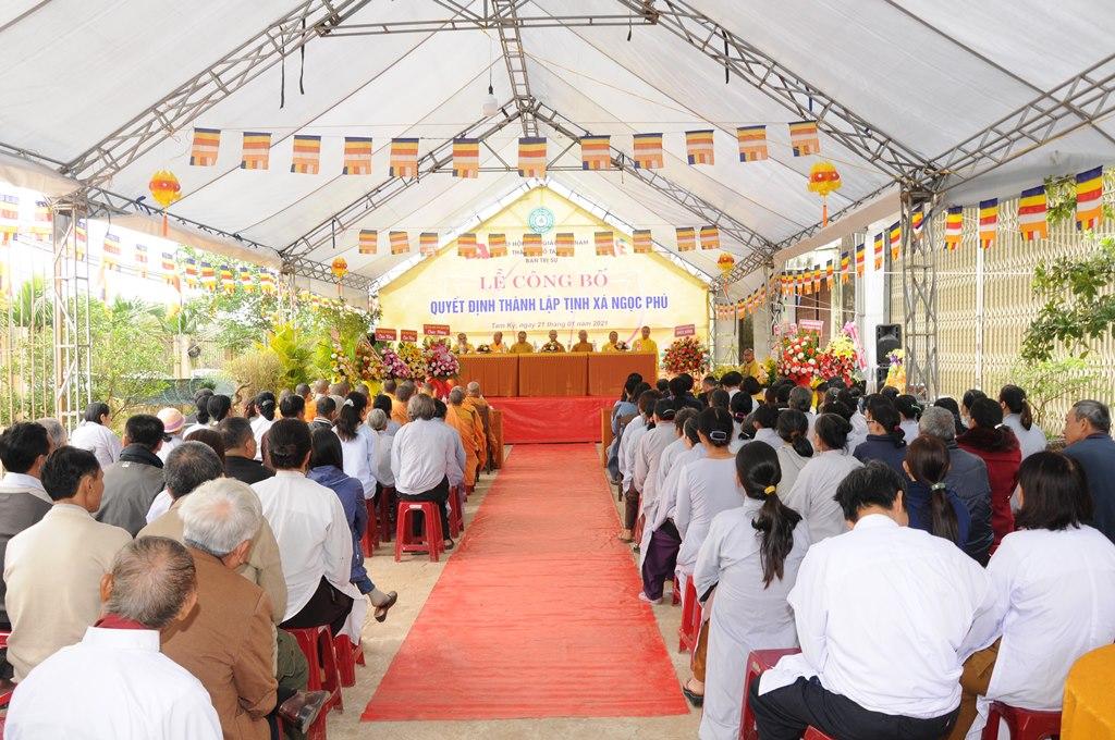 Tam Kỳ: Công bố quyết định thành lập Tịnh xá Ngọc Phú (Hệ phái Khất sĩ)
