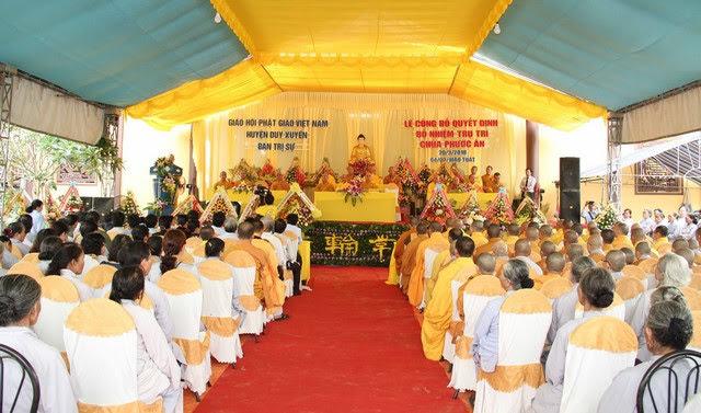 Duy Xuyên: Công bố Quyết định bổ nhiệm trụ trì chùa Phước Ân, xã Duy Trung