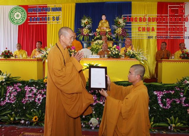 Phú Ninh: Bổ nhiệm trụ trì chùa Dương Đàn