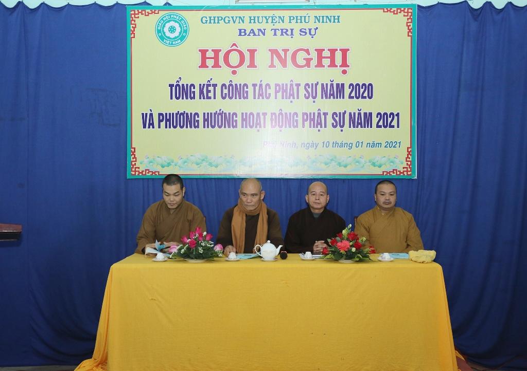 Phú Ninh: BTS Phật giáo huyện tổng kết công tác Phật sự năm 2020