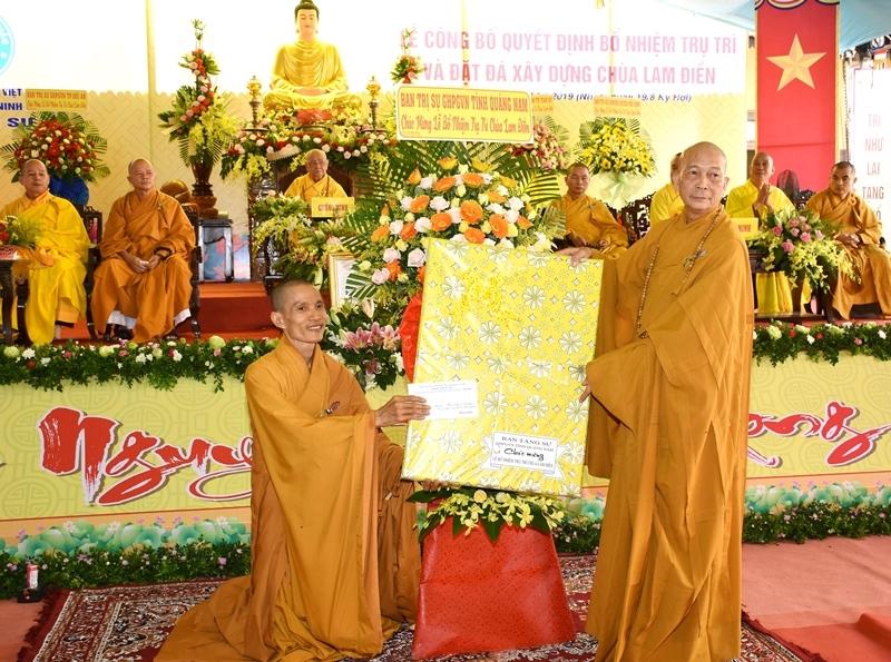 Phú Ninh: Lễ công bố Quyết định bổ nhiệm trụ trì và đặt đá xây dựng chùa Lam Điền