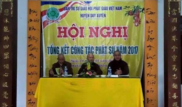 Duy Xuyên: BTS PG huyện tổng kết Phật sự năm 2017
