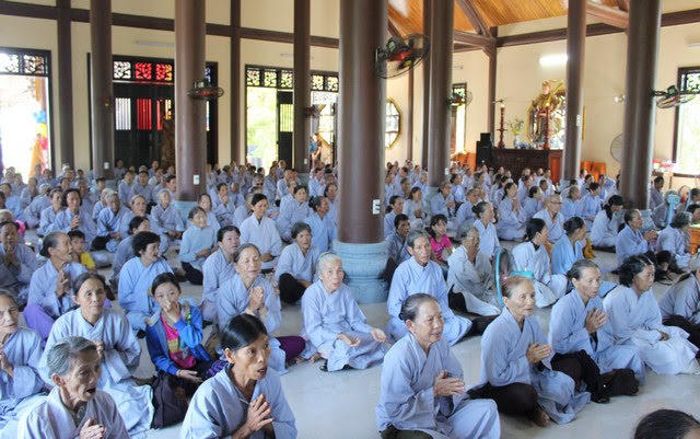 Tam Kỳ: Phật giáo thành phố tổ chức khóa tu một ngày an lạc