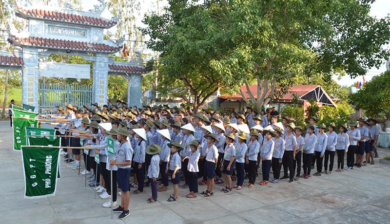 Quế Sơn: GĐPT huyện khai mạc trại họp bạn Lục Hòa VI