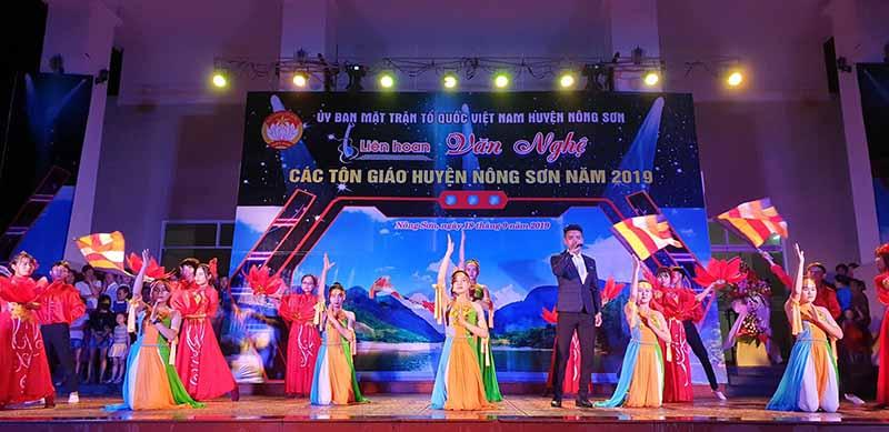 Nông Sơn: Phật giáo tham gia Liên hoan Văn nghệ các Tôn giáo năm 2019