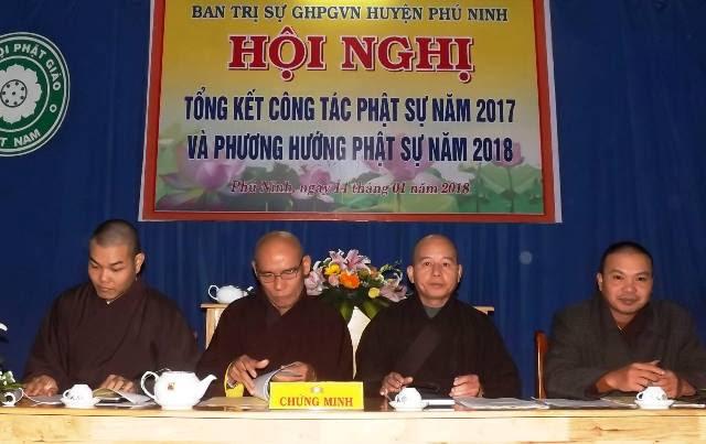 Phú Ninh: BTS PG huyện tổng kết công tác Phật sự 2017