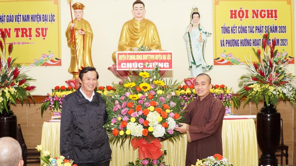 Đại Lộc: Phật giáo huyện tổ chức hội nghị tổng kết Phật sự năm 2020 và lễ Phật thành đạo