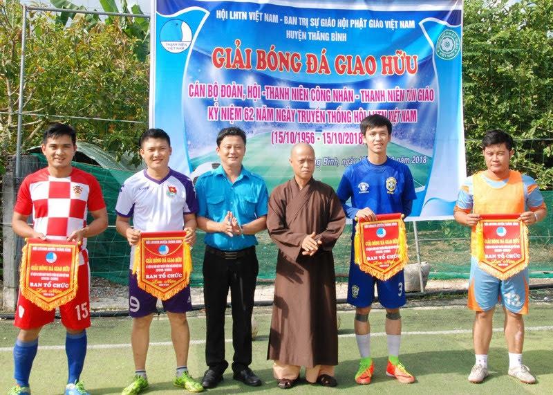 Thăng Bình: BTS phối hợp Hội LHTNVN huyện tổ chức giải bóng đá giao hữu