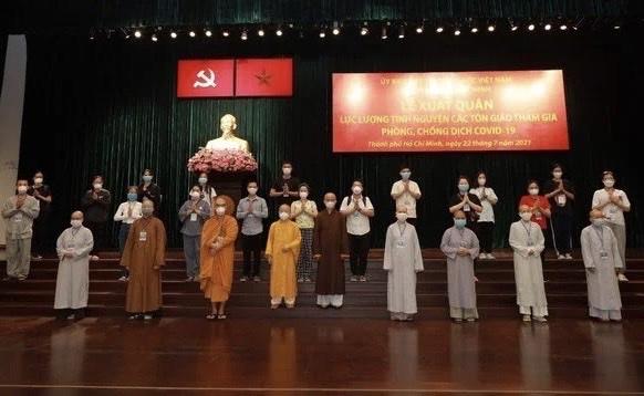 Lễ xuất quân lực lượng tình nguyện viên các Tôn giáo tham gia phòng, chống dịch COVID – 19