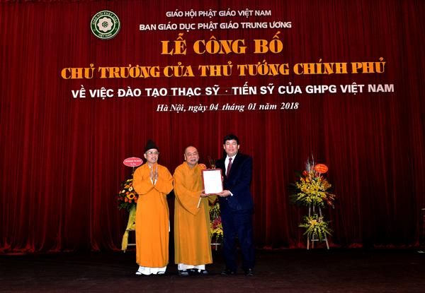 Chính phủ chấp thuận cho GHPGVN đào tạo sau Đại học