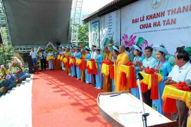 Đại Lộc: Trọng thể khánh thành chùa Hà Tân