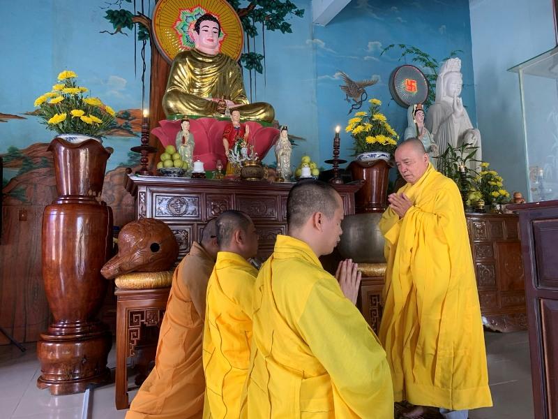 Thăng Bình: Chư Tăng tác pháp Tự tứ tại chùa Bảo Châu