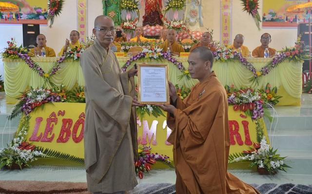 Duy Xuyên: Bổ nhiệm trụ trì chùa Duy Trung