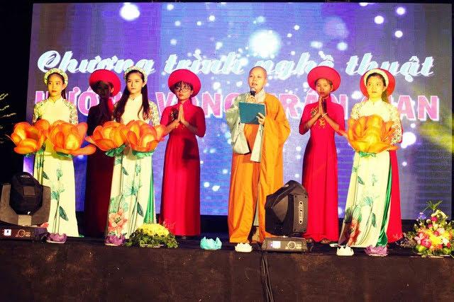 """Phú Ninh: Chùa Quang Minh tổ chức chương trình nghệ thuật hoằng pháp """"hướng vọng trần gian"""""""
