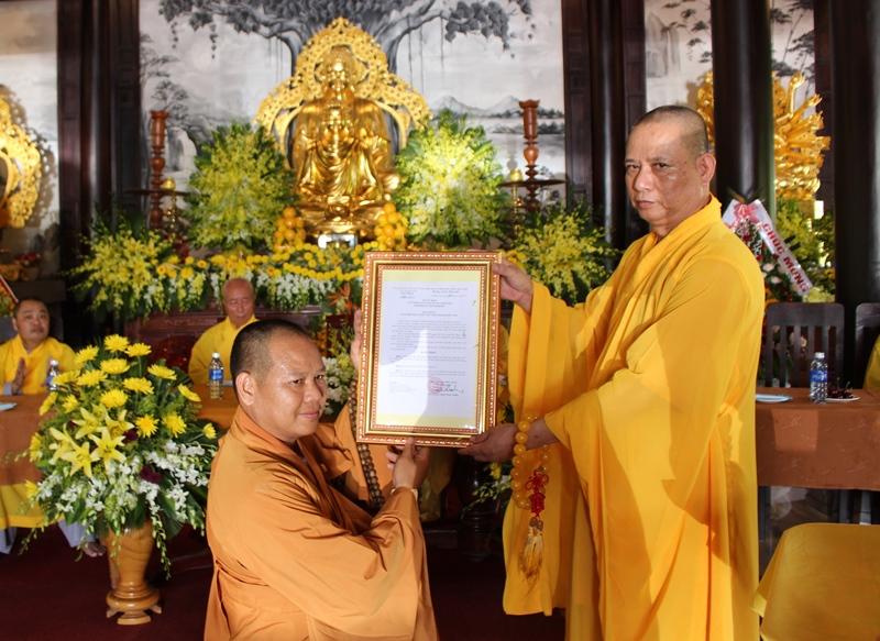 Đại Lộc: Lễ công bố quyết định bổ nhiệm trụ trì chùa Hà Tân