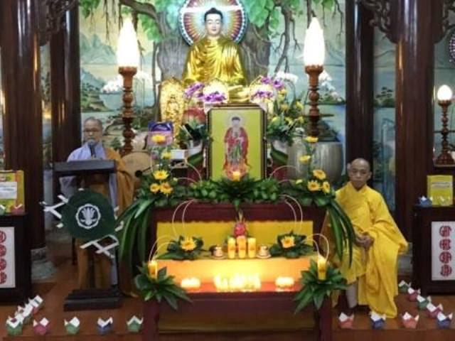 Nông Sơn: Chùa Kim Sơn tổ chức lễ vía Phật A Di Đà