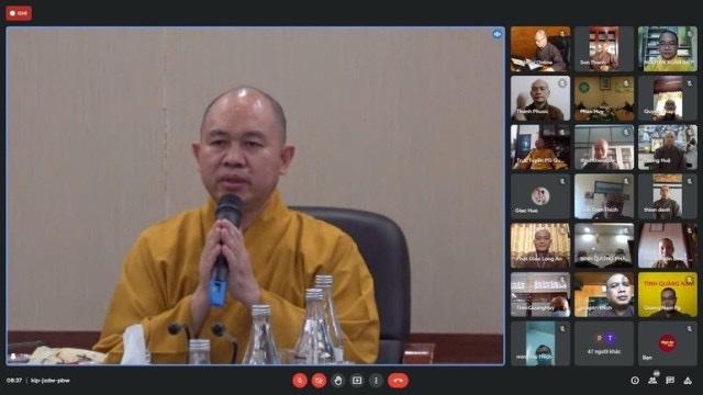 Hội nghị trực tuyến bộ phận Thư ký, Văn phòng Phật giáo 63 tỉnh thành
