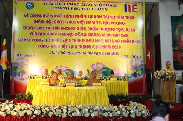Công cử Ban Trị sự lâm thời Giáo hội Phật giáo Việt Nam Thành phố Hải Phòng