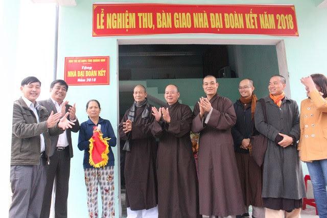 PGT: BTS PG tỉnh Quảng Nam bàn giao 2 nhà đại đoàn kết tại huyện Duy Xuyên