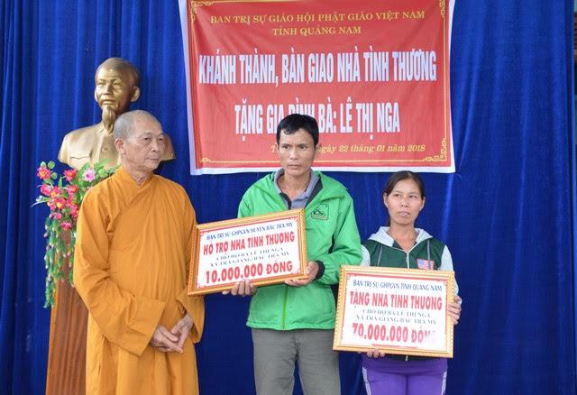 PG Tỉnh: Ban Trị Sự bàn giao nhà tình thương cho hộ bà Lê Thị Nga tại huyện Bắc Trà My