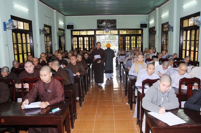 GDPG: Trường Phật học Quảng Nam tổ chức thi học kỳ I năm thứ nhất lớp Trung cấp