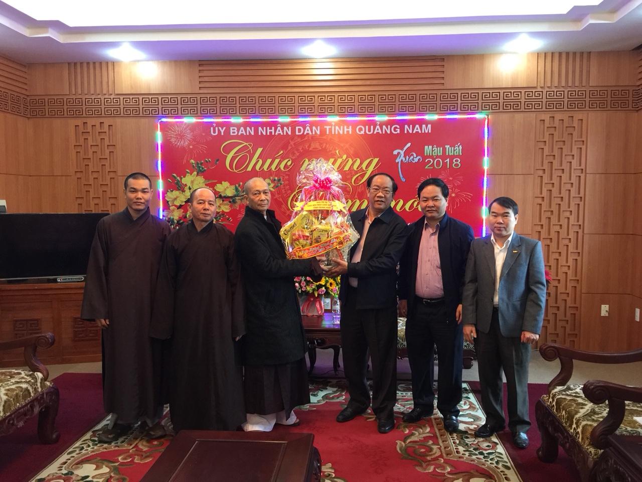 PGT: Ban Trị Sự chúc tết Chính quyền tỉnh và chư tôn đức nguyên lãnh đạo Ban Trị Sự Phật giáo tỉnh