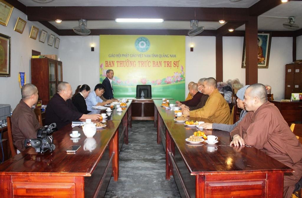 Ban Tôn giáo tỉnh Quảng Nam thăm và làm việc với BTS PG tỉnh