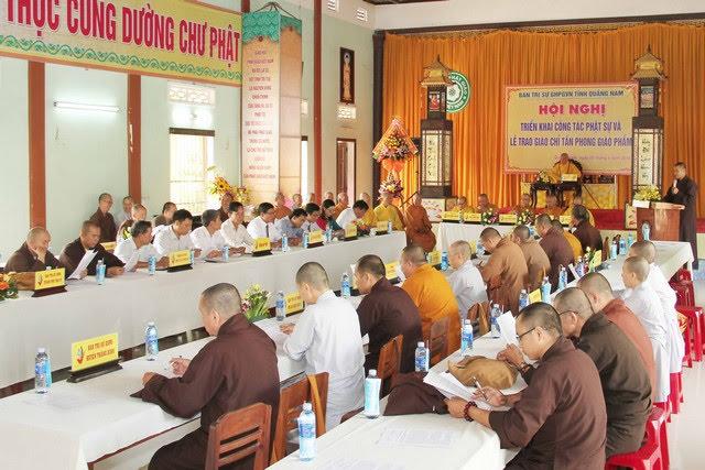 Quảng Nam: Hội nghị triển khai Phật sự, đón nhận Giáo chỉ tấn phong Giáo phẩm