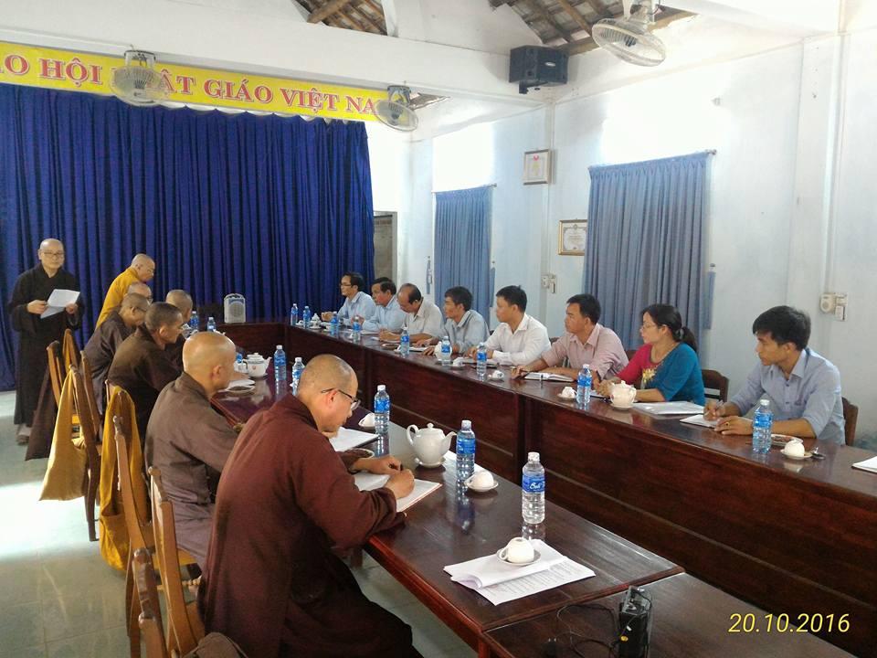 Ban Tôn Giáo tỉnh thăm và làm việc với Ban Trị Sự Phật giáo tỉnh