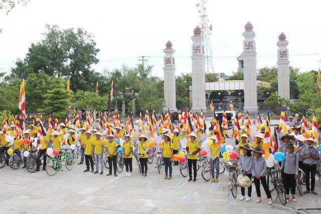 Phật giáo Quảng Nam diễu hành xe đạp kính mừng Phật đản PL.2562