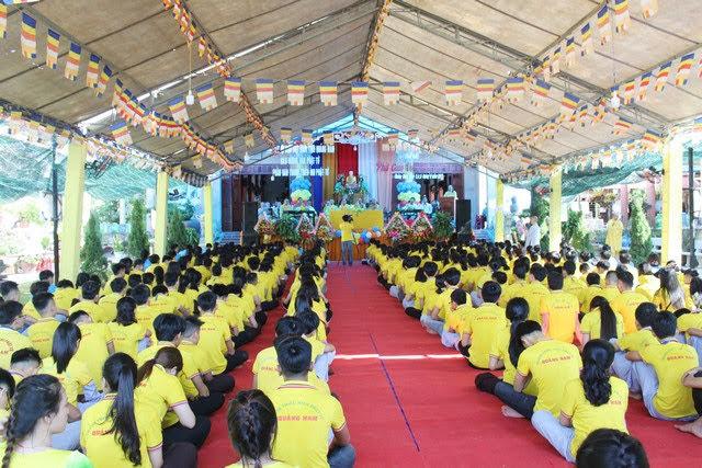 """HDPT: Phân ban TTNPT Quảng Nam trọng thể khai mạc khóa tu mùa hè """"Phật giáo với tuổi trẻ"""" lần V"""