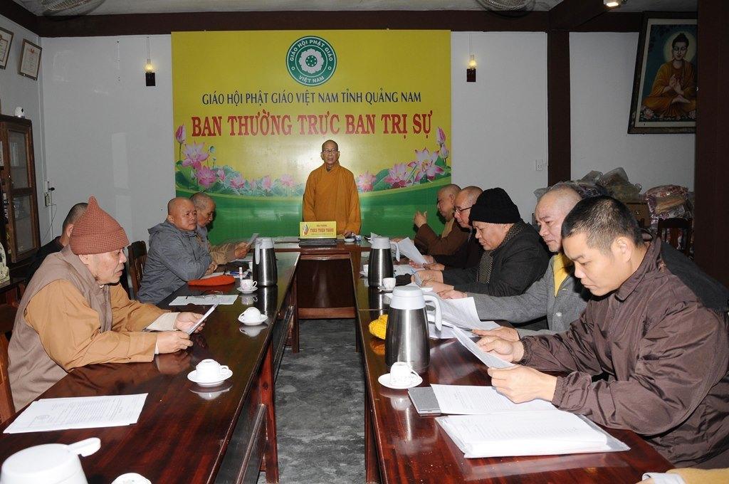 Ban Thường trực BTS Phật giáo tỉnh triển khai Phật sự tháng 1/2021