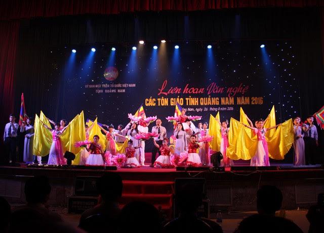PGT: Tham gia liên hoan văn nghệ các tôn giáo tỉnh Quảng Nam năm 2016