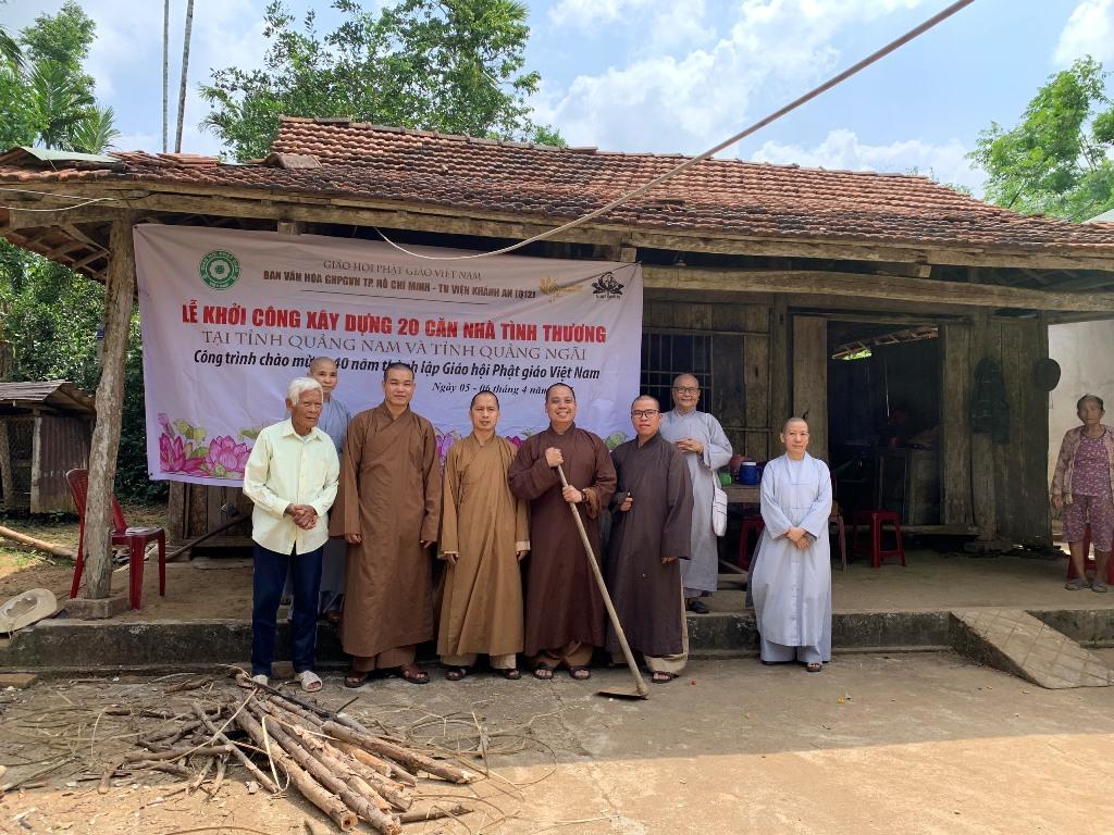 Ban Văn hóa PG TP. HCM xây dựng 20 căn nhà tình thương nhân kỷ niệm 40 năm thành lập GHPGVN